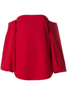 Theory off-the-shoulder blouse - Red