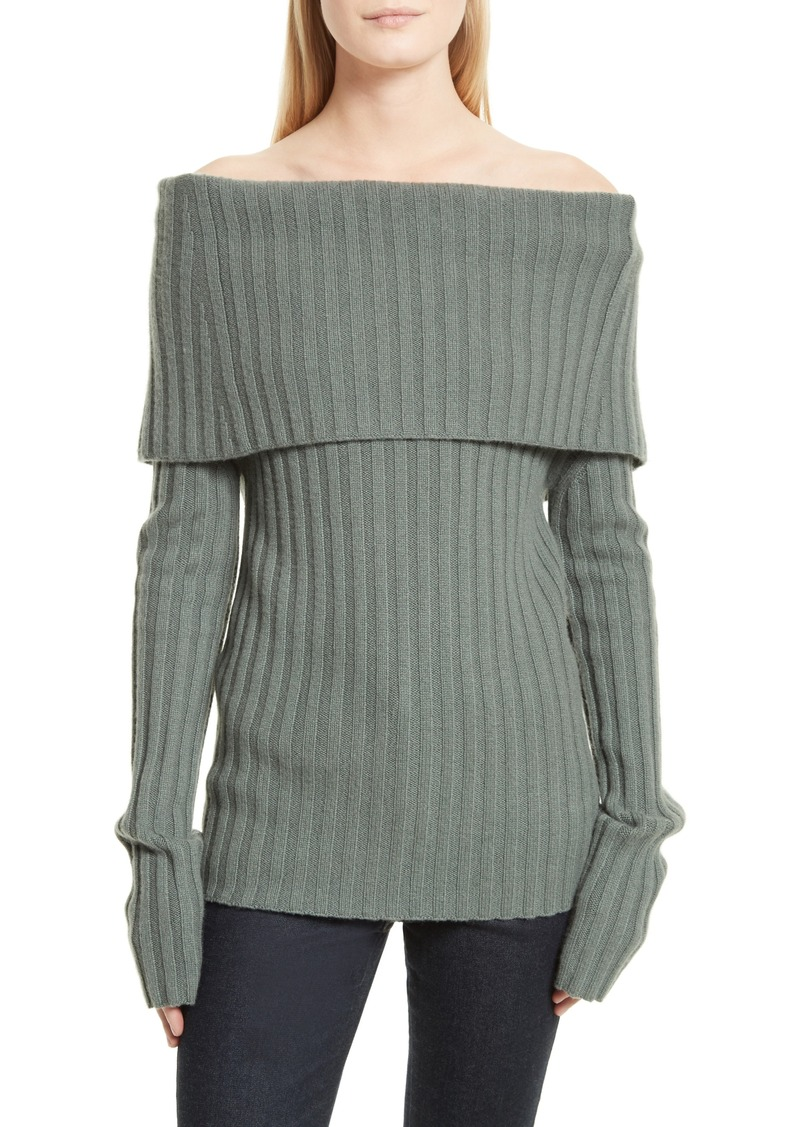 Theory Theory Off the Shoulder Cashmere Sweater | Sweaters - Shop ...