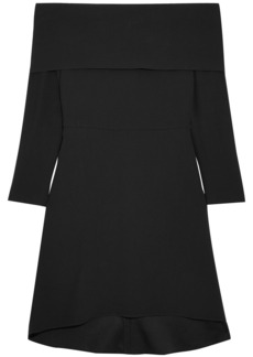 Theory Off-the-shoulder crepe dress