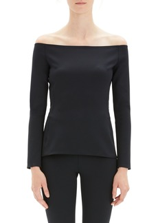 Theory Off the Shoulder Fitted Top