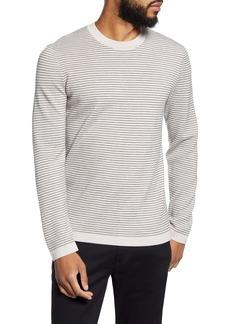 Theory Ollis Stripe Crewneck Wool Sweater