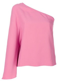Theory one shoulder blouse - Pink & Purple