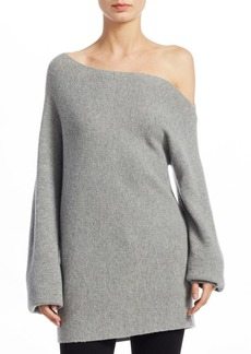 Theory One-Shoulder Wool Sweater