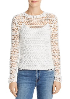 Theory Open Crochet Sweater