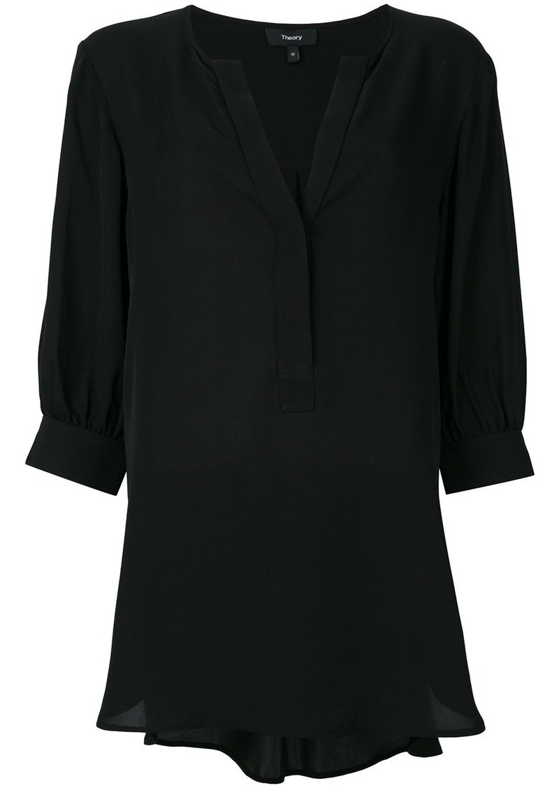 Theory open neck blouse - Black