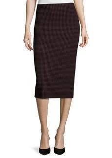 Theory Ornita J Evian Houndstooth Pencil Skirt
