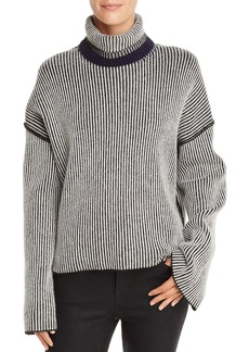 Theory Oversize Striped Cashmere Sweater