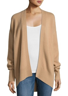Theory Oversized Open-Front Cashmere Cardigan