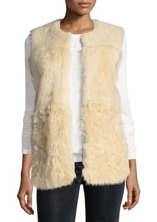 Theory Patchwork Shearling Vest