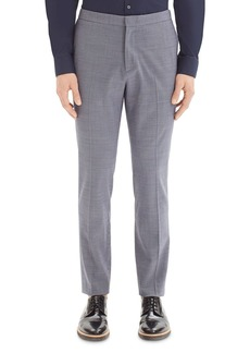 Theory Payton Micro-Houndstooth Slim Fit Pants