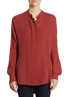 Theory Perfect Dolman Silk Blouse