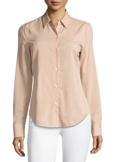 Theory Perfect Fitted Button-Front Top