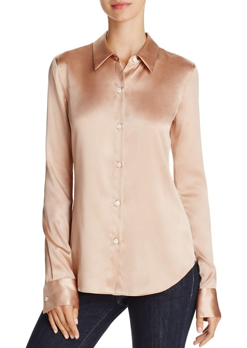 Theory Perfect Fitted Stretch-Silk Shirt