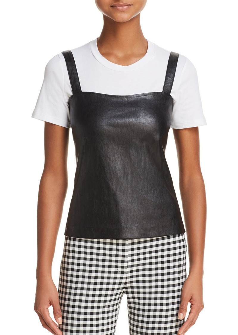 Theory Perfect Leather Camisole Top