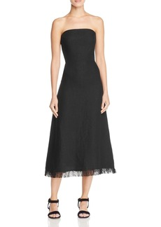 Theory Phyly Linen Strapless Dress