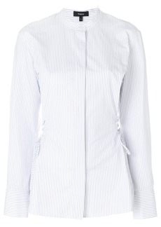 Theory pinstripe lace-up waist shirt - White