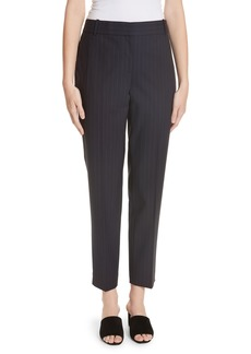 Theory Pinstripe Straight Leg Trousers