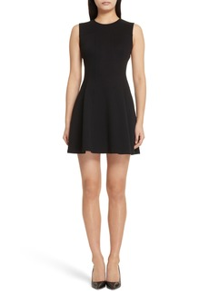 Theory Piqué Fit & Flare Dress