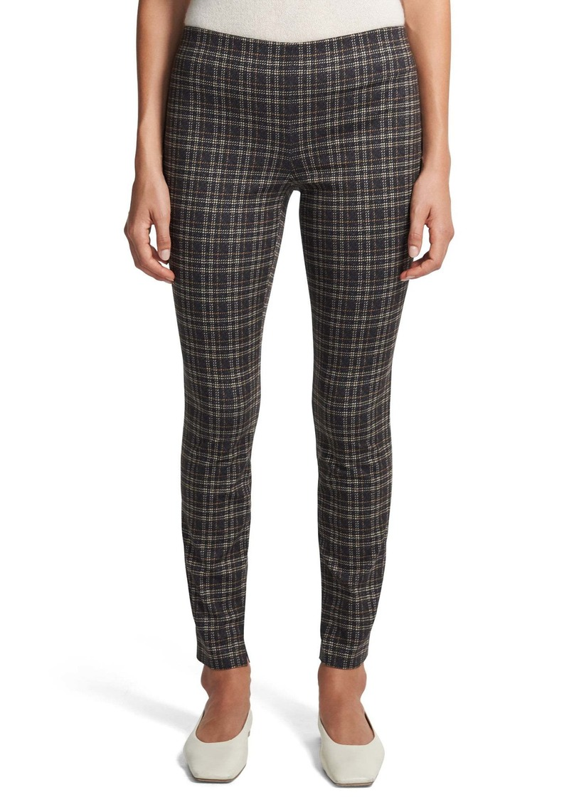 Theory Plaid Leggings