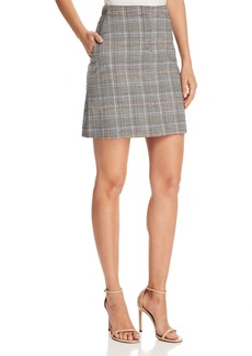 Theory Plaid Mini Skirt