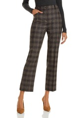 Theory Plaid Straight Leg Pants