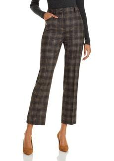 Theory Plaid Straight Leg Pants