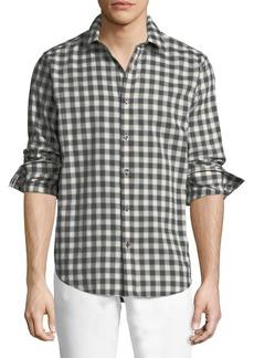 Theory Plaid Woven Sport Shirt