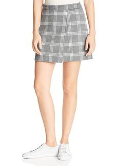 Theory Plaid Wrap Mini Skirt