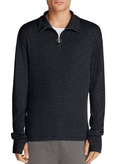 Theory Plaited Rib Half Zip Sweater - 100% Exclusive