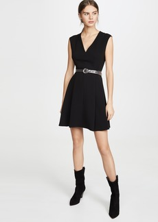 Theory Pleated Cap Dress