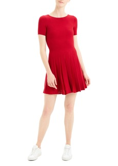 Theory Pleated Fit & Flare Dress