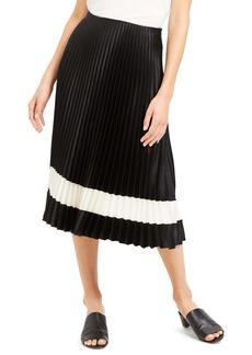 Theory Pleated Midi Skirt