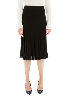 Theory Pleated Viscose Knee-Length Skirt
