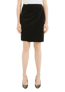 Theory Pleated Wrap Pencil Skirt