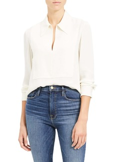 Theory Popover Classic Silk Blouse