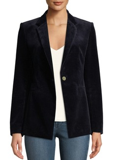 Theory Power One-Button Modern Corduroy Jacket