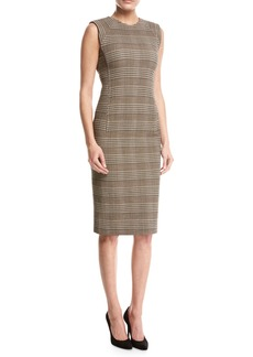 Theory Power Plaid Sheath Dress