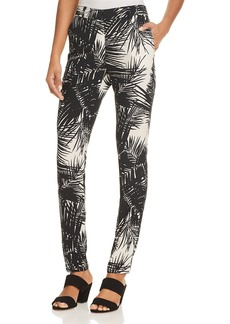 Theory Printed Silk Boyfriend Pants