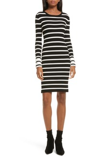 Theory Prosecco Stripe Knit Dress