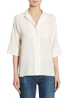 Theory Ralfinn Silk Shirt