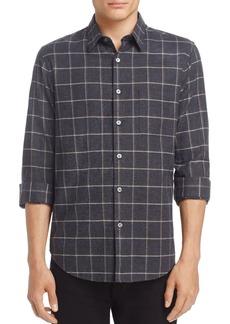Theory Rammy Grid Flannel Slim Fit Button-Down Shirt