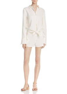 Theory Ranay Tie-Front Romper