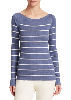 Theory Refined Stripe Wool Sweater