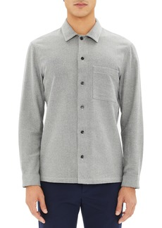 Theory Regular Fit Gingham Flannel Sport Shirt