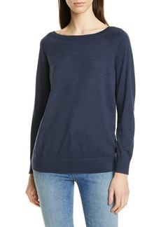 Theory Relaxed Boatneck Merino Wool Sweater