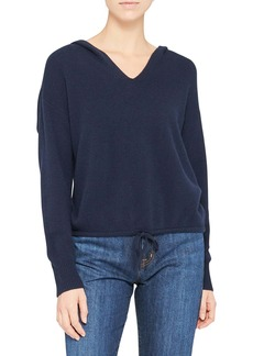 Theory Relaxed Cashmere Hoodie Sweater