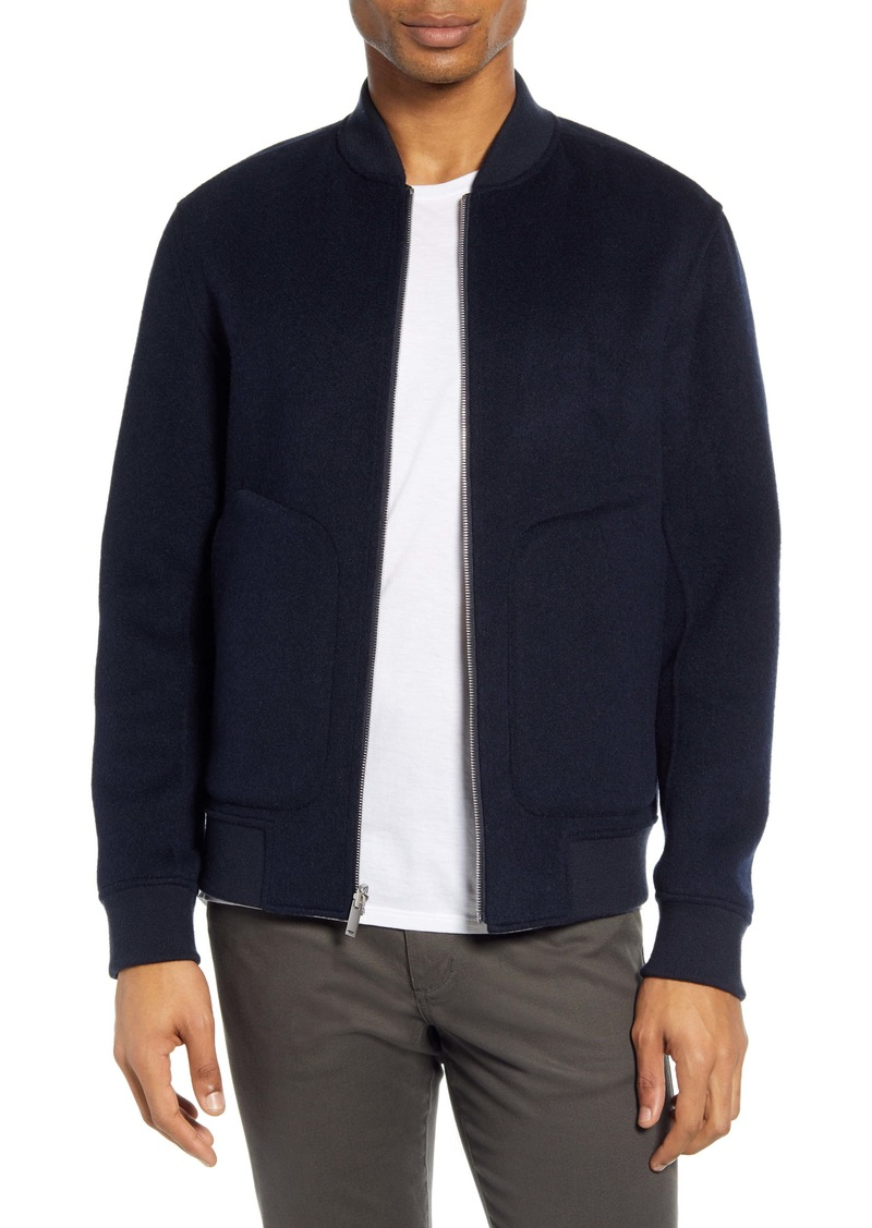 Theory Reversible Regular Fit Cashmere Bomber Jacket