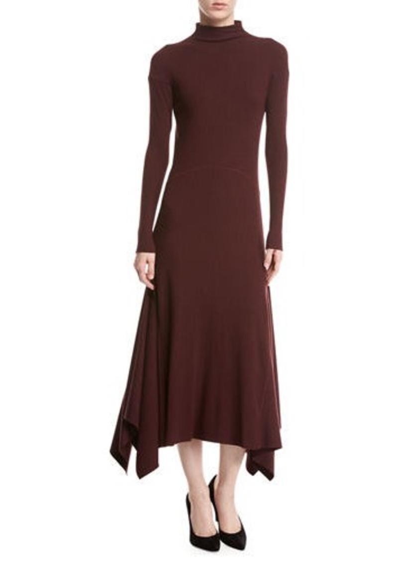 688c07afa90a Theory Theory Rib-Knit Panel Handkerchief-Hem Sweater Dress | Dresses