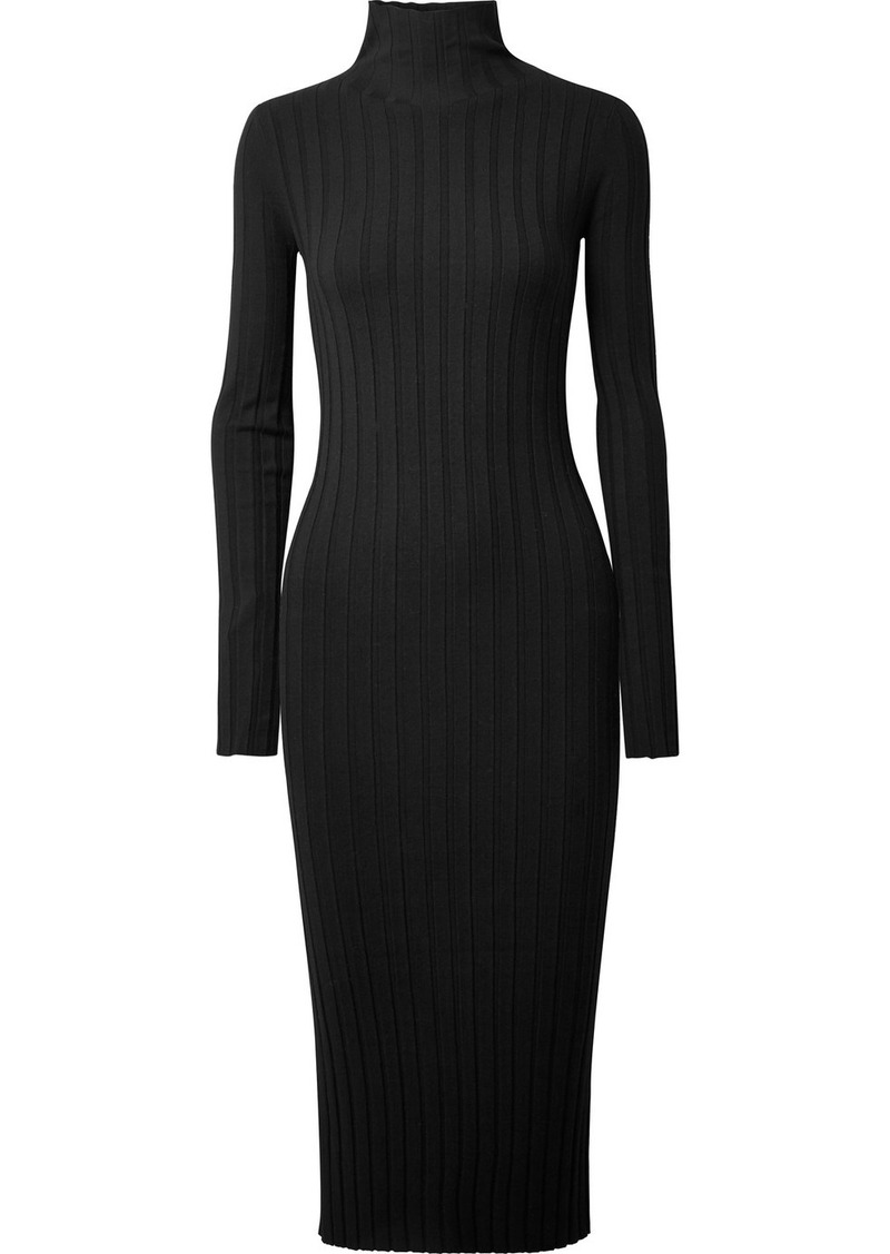 8376e6df0ef9 Theory Theory Ribbed-knit turtleneck midi dress