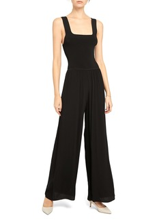 Theory Ribbed Square Neck Jumpsuit